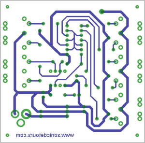 Circuit board designed in Eagle CAD